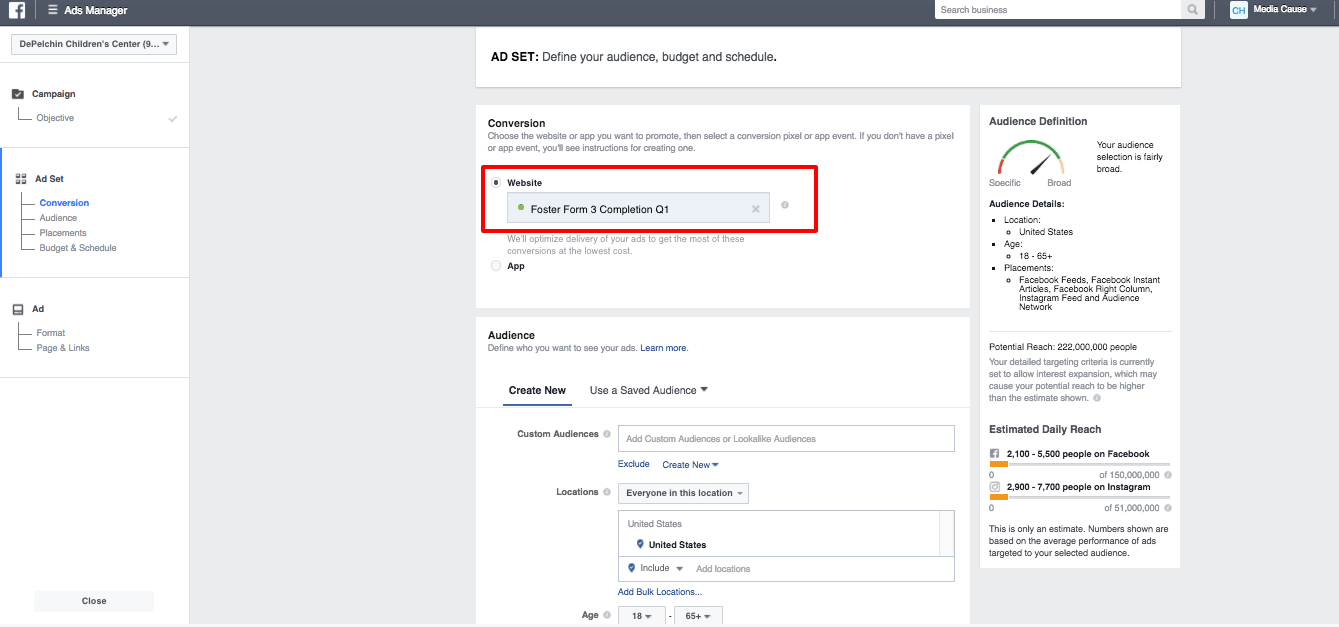 Track Facebook Conversions in Google Analytics - Facebook Custom Conversion Website Ads Manager